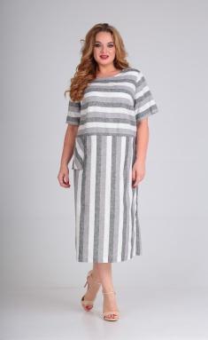 Dress Andrea Style 00264 poloska seraya