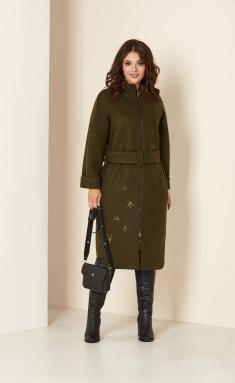 Coat Andrea Style 00274 xaki