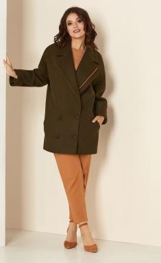 Coat Andrea Style 00276 xaki
