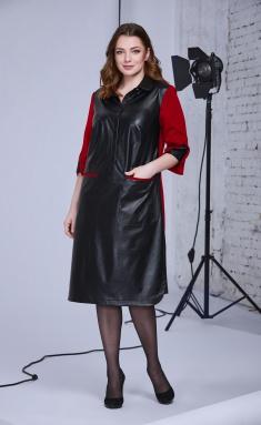 Dress Andrea Style 0339 chern s krasnym