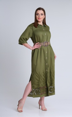 Dress Andrea Style 0350 zelenyj