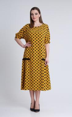 Dress Andrea Style 0353 gorchica, sin goroxi