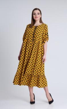 Dress Andrea Style 0354 gorchica, sin goroxi