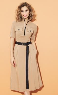 Dress DiLia Fashion 0453 bezh