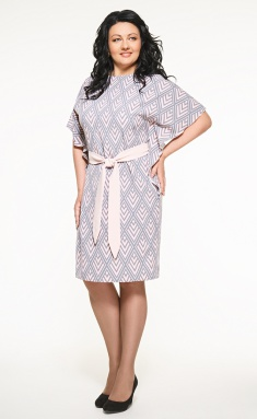 Dress SWALLOW 059 ser/pers/romb