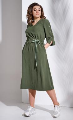 Dress Avanti Erika 0955-1 sero-zelenyj