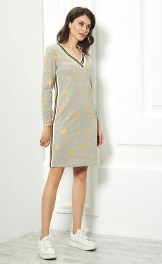 Dress AYZE 1011 seryj/zoloto