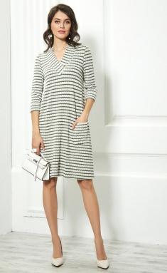Dress AYZE 1018 molochnyj/zelenyj