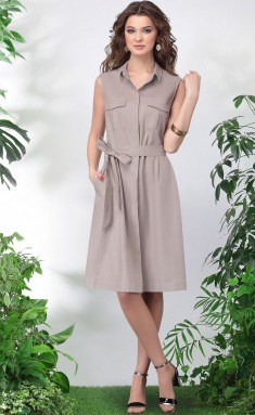 Dress LeNata 11016 svetlyj bezh 42-48