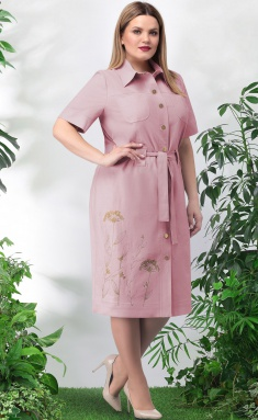 Dress LeNata 11024 pudra