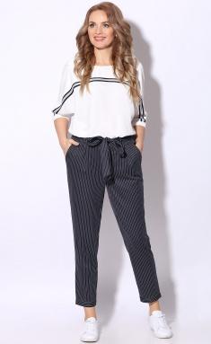 Trousers LeNata 11118 poloska na sinem