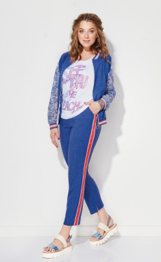 Trousers Anna Majewska M-1111 Blue