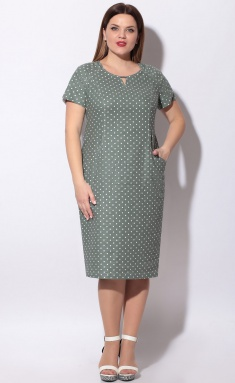 Dress LeNata 11129 na zelenom gorox