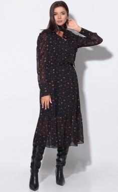 Dress LeNata 11155 chernoe v risunok