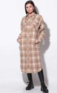Coat LeNata 11168 kakao