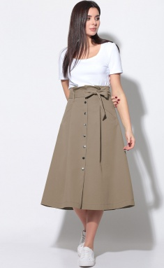 Skirt LeNata 11180 kapuchino