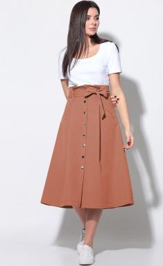 Skirt LeNata 11180 terrakot