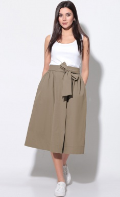 Skirt LeNata 11181 kapuchino