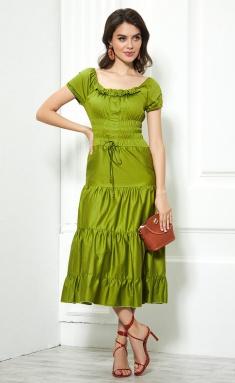 Dress AYZE 1123 salatovyj