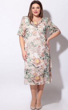Dress LeNata 11746 cv na bezhevom