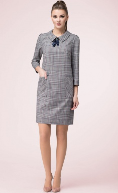 Dress LeNata 11989 kletka seraya