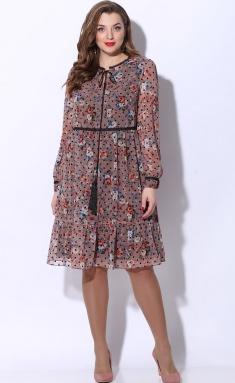 Dress LeNata 12072 roz s chernym goroshkom