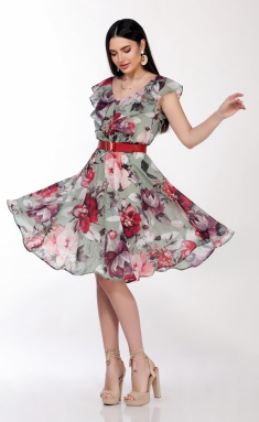 Dress LaKona 1279-1 myata s malinoj