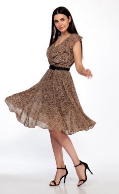 Dress Sale 1279-2 bezh tigr