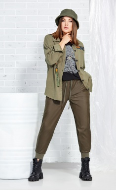 Trousers AVE RARA 4014 xaki