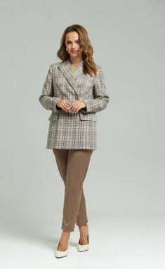 Trousers SandyNA 130204 sero-korichnevyj