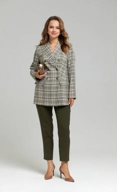 Trousers SandyNA 130204 temno-olivkovyj