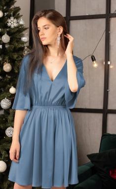 Dress Ladis Line 1309 lazurno-sinij