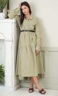 Dress Ladis Line 1314 xaki