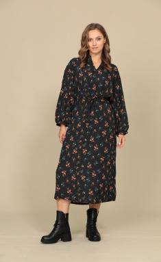 Dress AmberA 133-1 t.slivovyj