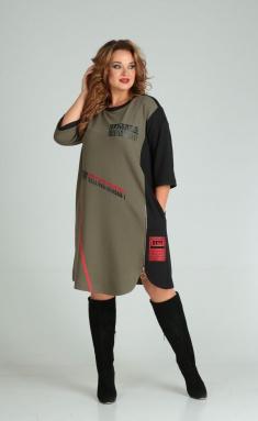 Dress SandyNA 13628 xaki