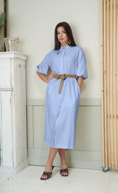 Dress Ladis Line 1349 golub