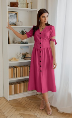 Dress Ladis Line 1351 malina