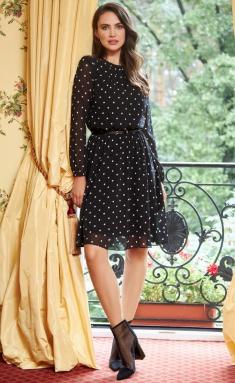 Dress AYZE 1363 cherno-belyj