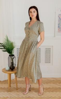 Dress Ladis Line 1364 xaki
