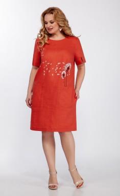 Dress LaKona 1372-1 morkovno-kor