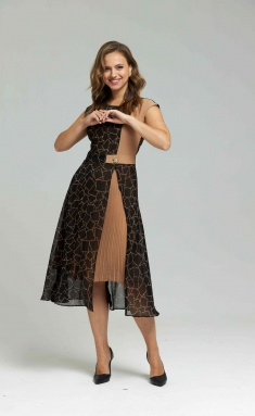 Dress SandyNA 13976 chern/geometriya