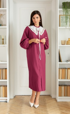 Dress Ladis Line 1404 fuksiya