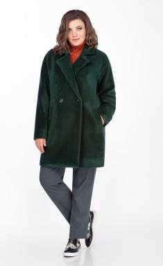 Coat Anna Majewska M-1411 zelenyj