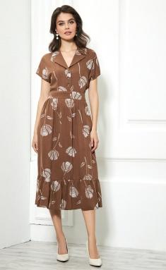 Dress AYZE 1462 kofejnyj