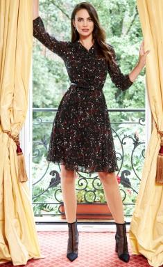 Dress AYZE 1466 cherno-malinovyj