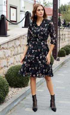 Dress AYZE 1466 cherno-bezhevyj