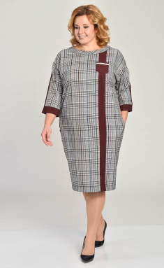 Dress Lady Style Classic Outlet 1550 bordo+ser kl