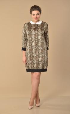 Dress Lady Style Classic 1553 korich