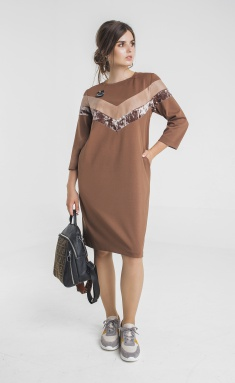 Dress Elletto 1720 korichn