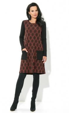 Dress AYZE 1737 chernyj/korall